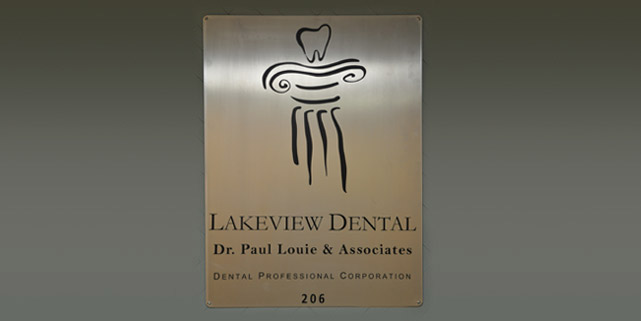 Lakeview Dental Office plaque